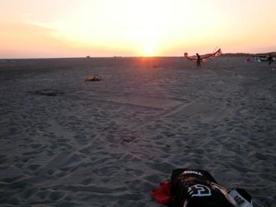 天竜川河口の夕日