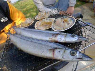 秋刀魚と大アサリ
