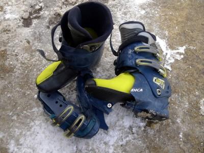 スキーブーツ大破